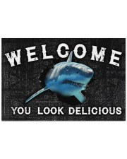"""Shark You Look Delicious Door Mat Doormat 22.5"""" x 15""""  front"""