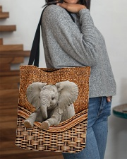 Elephant Funny All - Over Tote All-over Tote aos-all-over-tote-lifestyle-front-09