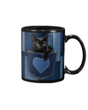 Black Cat Jean Pocket Mug thumbnail