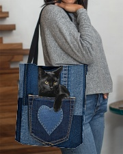 Black Cat Jean Pocket All-over Tote aos-all-over-tote-lifestyle-front-09