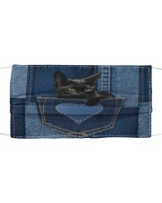 Black Cat Jean Pocket Cloth face mask thumbnail