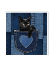 Black Cat Jean Pocket Sticker - Single (Vertical) thumbnail