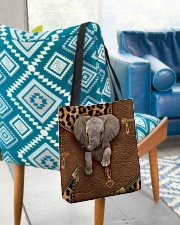 Elephant Leopard Pattern Tote Bag All-over Tote aos-all-over-tote-lifestyle-front-01