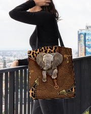 Elephant Leopard Pattern Tote Bag All-over Tote aos-all-over-tote-lifestyle-front-05