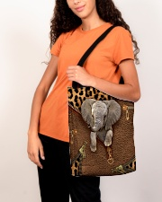 Elephant Leopard Pattern Tote Bag All-over Tote aos-all-over-tote-lifestyle-front-07