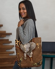 Elephant Leopard Pattern Tote Bag All-over Tote aos-all-over-tote-lifestyle-front-08