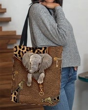 Elephant Leopard Pattern Tote Bag All-over Tote aos-all-over-tote-lifestyle-front-09