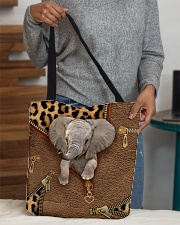 Elephant Leopard Pattern Tote Bag All-over Tote aos-all-over-tote-lifestyle-front-10