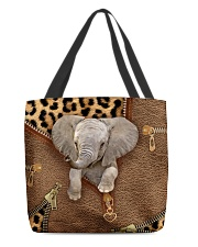 Elephant Leopard Pattern Tote Bag All-over Tote back