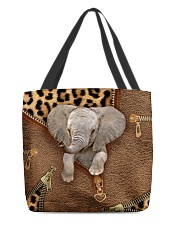 Elephant Leopard Pattern Tote Bag All-over Tote front
