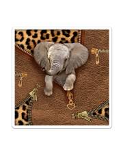 Elephant Leopard Pattern Tote Bag Sticker - Single (Vertical) thumbnail
