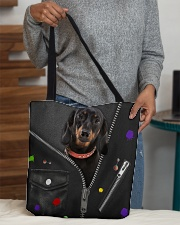 Dachshund - Zip - All Tote All-over Tote aos-all-over-tote-lifestyle-front-10