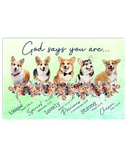 Corgi God Says You Are 17x11 Poster front