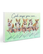 Corgi God Says You Are 30x20 Gallery Wrapped Canvas Prints thumbnail