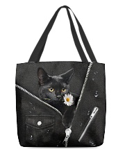 Black Cat Black  All-over Tote front