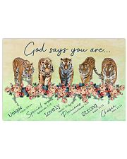 Tiger God Says You Are 17x11 Poster front