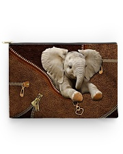 Elephant Zip Accessory Pouch - Large back