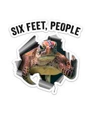 Turtle Six Feet People St Sticker - Single (Vertical) front