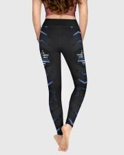 Police Blue Star Pattern Legging High Waist Leggings aos-high-waist-leggings-lifestyle-05