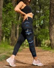 Police Blue Star Pattern Legging High Waist Leggings aos-high-waist-leggings-lifestyle-20