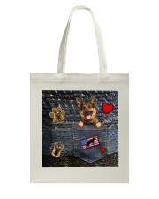 German Shepherd - Want Go Out Leather Tote Bag thumbnail