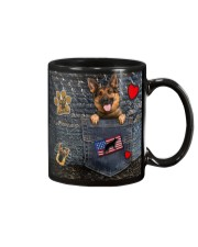 German Shepherd - Want Go Out Leather Mug thumbnail