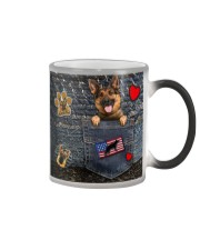 German Shepherd - Want Go Out Leather Color Changing Mug thumbnail