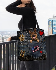 German Shepherd - Want Go Out Leather All-over Tote aos-all-over-tote-lifestyle-front-05