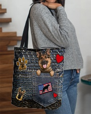 German Shepherd - Want Go Out Leather All-over Tote aos-all-over-tote-lifestyle-front-09