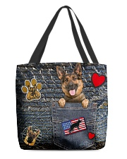 German Shepherd - Want Go Out Leather All-over Tote back