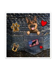 German Shepherd - Want Go Out Leather Sticker - Single (Vertical) thumbnail