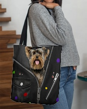 Yorkshire Terrier - Zip - All Tote All-over Tote aos-all-over-tote-lifestyle-front-09