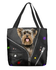 Yorkshire Terrier - Zip - All Tote All-over Tote back