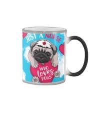 Dog - Just a Nurse Who Loves Pug Color Changing Mug thumbnail