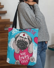 Dog - Just a Nurse Who Loves Pug All-over Tote aos-all-over-tote-lifestyle-front-09