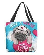 Dog - Just a Nurse Who Loves Pug All-over Tote back