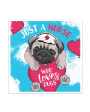 Dog - Just a Nurse Who Loves Pug Sticker - Single (Vertical) thumbnail