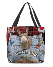 Just A Girl Who Loves Donkey All-over Tote back