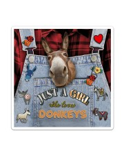 Just A Girl Who Loves Donkey Sticker - Single (Vertical) thumbnail