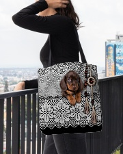 Baby Dachshund Amigurumi All-over Tote aos-all-over-tote-lifestyle-front-05