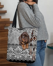 Baby Dachshund Amigurumi All-over Tote aos-all-over-tote-lifestyle-front-09