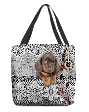 Baby Dachshund Amigurumi All-over Tote front