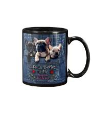 French Bulldogs Life Is Better Mug tile