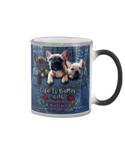 French Bulldogs Life Is Better Color Changing Mug thumbnail