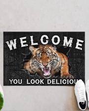 """Tiger You Look Delicious Door Mat Doormat 22.5"""" x 15""""  aos-doormat-22-5x15-lifestyle-front-06"""