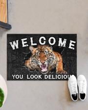 """Tiger You Look Delicious Door Mat Doormat 22.5"""" x 15""""  aos-doormat-22-5x15-lifestyle-front-07"""