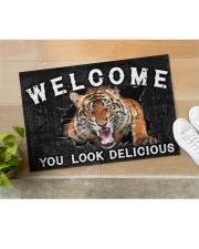 """Tiger You Look Delicious Door Mat Doormat 22.5"""" x 15""""  aos-doormat-22-5x15-lifestyle-front-11"""