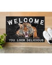 """Tiger You Look Delicious Door Mat Doormat 22.5"""" x 15""""  aos-doormat-22-5x15-lifestyle-front-12"""