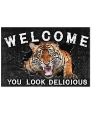 """Tiger You Look Delicious Door Mat Doormat 22.5"""" x 15""""  front"""