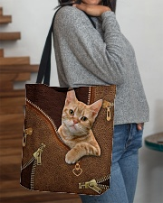 Ginger Cat  All-over Tote aos-all-over-tote-lifestyle-front-09